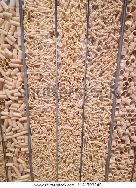 Pasta on display, Eataly NYC