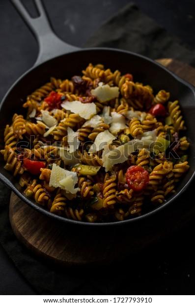 Pasta with parmigiano reggiano cheese