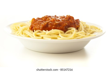 pasta plate isolated on a white background