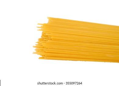 Pasta spaghetti isolated on a white background.