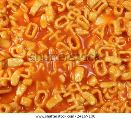 pasta spaghetti letters mixed up