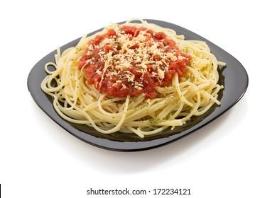 pasta spaghetti macaroni isolated on white background