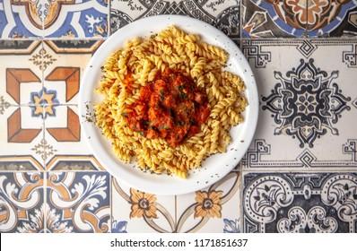 pasta and tomato
