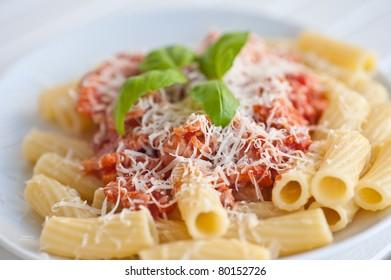 Pasta with tomatosauce