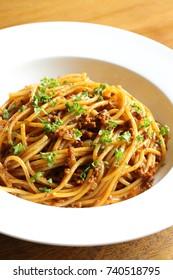 Pasta,Bolognese-meat sauce spaghetti