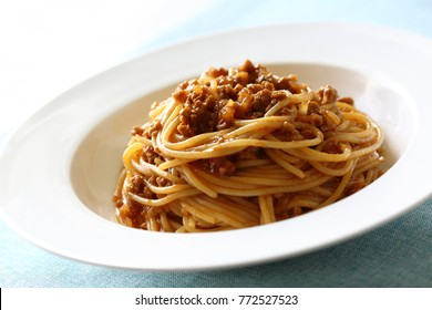 Pasta,Bolognese-meat sauce spaghetti