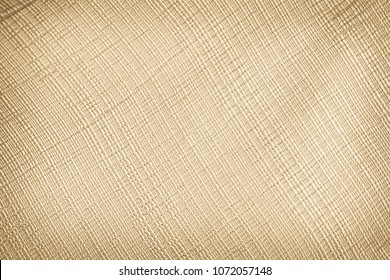 Pastel abstract Hessian or sackcloth fabric texture background. Wallpaper of artistic wale linen canvas. Blanket or Curtain of cotton pattern background with copy space for text decoration.