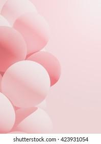 Pastel balloons, unfocused