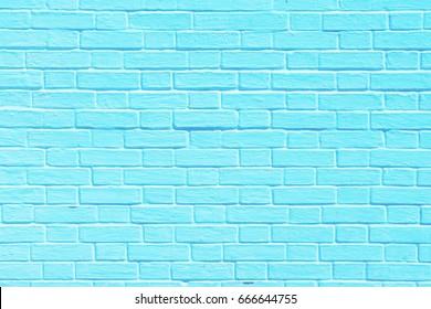 pastel blue background of old vintage brick wall