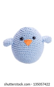 pastel blue handmade stuffed animal chick