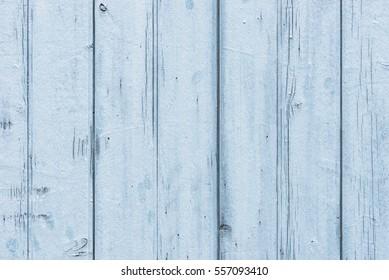 Pastel blue wood planks background.