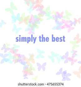 pastel butterflies scattered simply the best illustration