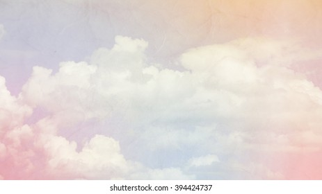 Pastel clouds texture background