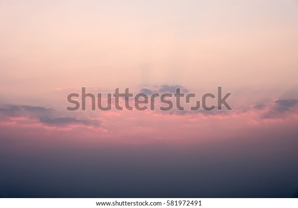 Pastel color pink and purple sky with sunset