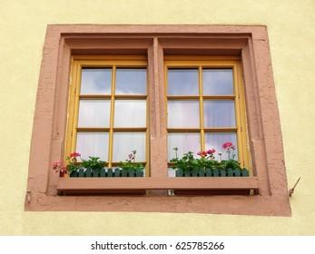 Pastel color window