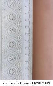 Pastel colored architecture detal