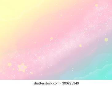 Pastel colored milky way