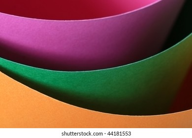 pastel colored paper close-up