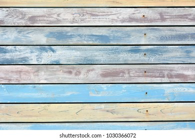 Pastel colors on wood