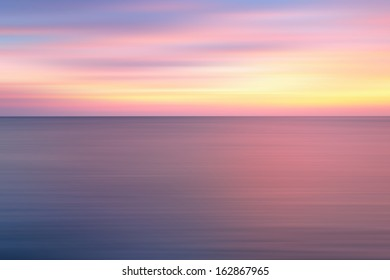 Pastel colors sunset background, long exposure effect