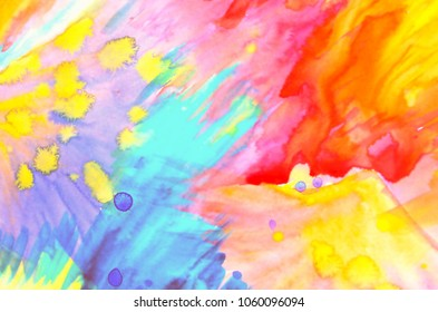 Pastel colors, Trendy background, Yellow dots, Colorful abstract creative background, Happy day, Spray abstract
