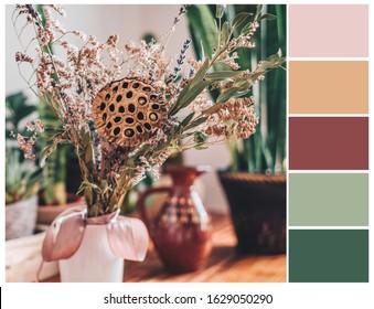 Pastel colour palette. Color swatch, harmonious color combinations.