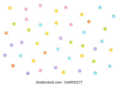 Pastel dot paper cut on white background - isolated