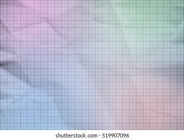 Pastel folded millimeter paper background texture