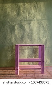 Pastel furniture and wall