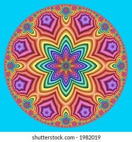 pastel hyperbolic kaleidoscope