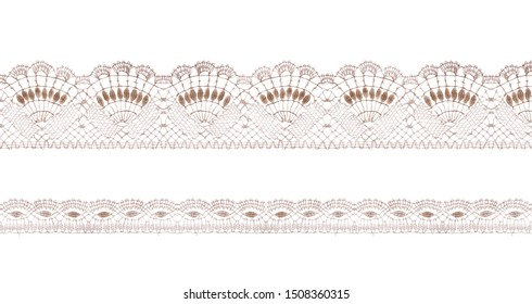 Pastel lace ribbons isolated shot