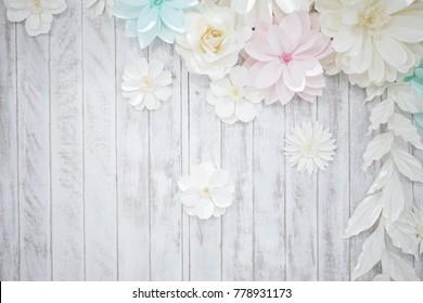 pastel paper flower