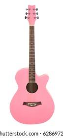 Pastel Pink Acoustic Cutaway Girlie Guitar
