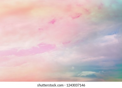 pastel pink and blue color sky wallpaper background
