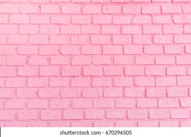 Pastel pink ordered brick wall texture background,backdrop for lady or woman concept