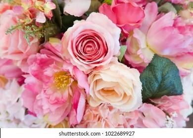 Pastel pink rose bouquet flower for valentine's day