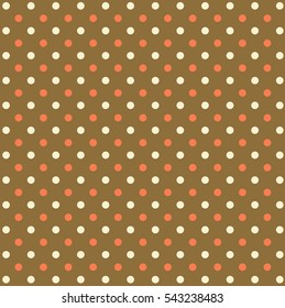 Pastel polka dot pattern for design