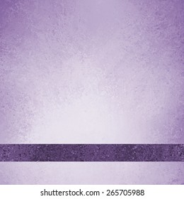 pastel purple background with dark purple ribbon footer with room for typography or text, has vintage grunge background texture