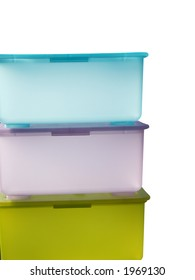 Pastel, Stacked Containers isolated on white