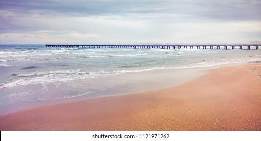 pastel tone evening seascape