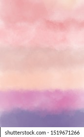 Pastel watercolor background in pink blended to purple, good for texts and contents.