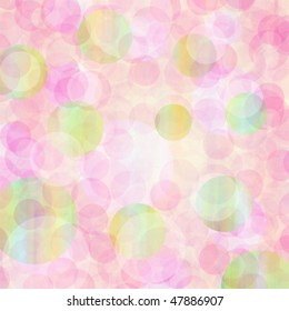 pastels colored circles