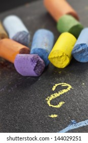 artist�´s pastels, detail macro shot with low DOF (depth of field)