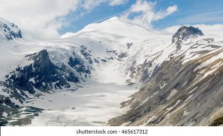 Pasterze glacier in the high Tauern, Austria