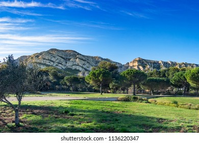 The Pastre park by the Marseilleveyre mountain range, Marseilles France