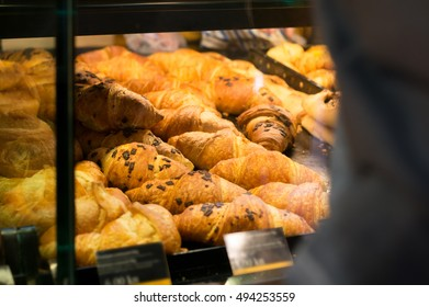 pastry in bakery display