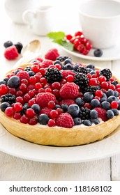 pastry with berries different sorts