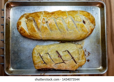 pastry decorating beef Wellington prepared for holidays