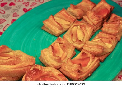 pastry (dough of flour, water and shortening) baked food
