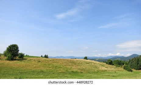 Pasture in the Central Slovakia region